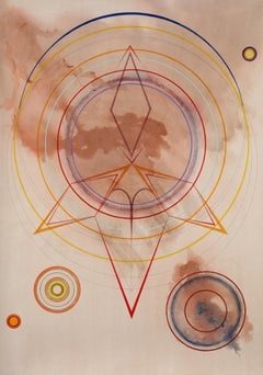 "Tayo Heuser, Nomad, 2013, Ink on handburnished paper, 56""x41"", Meditative"