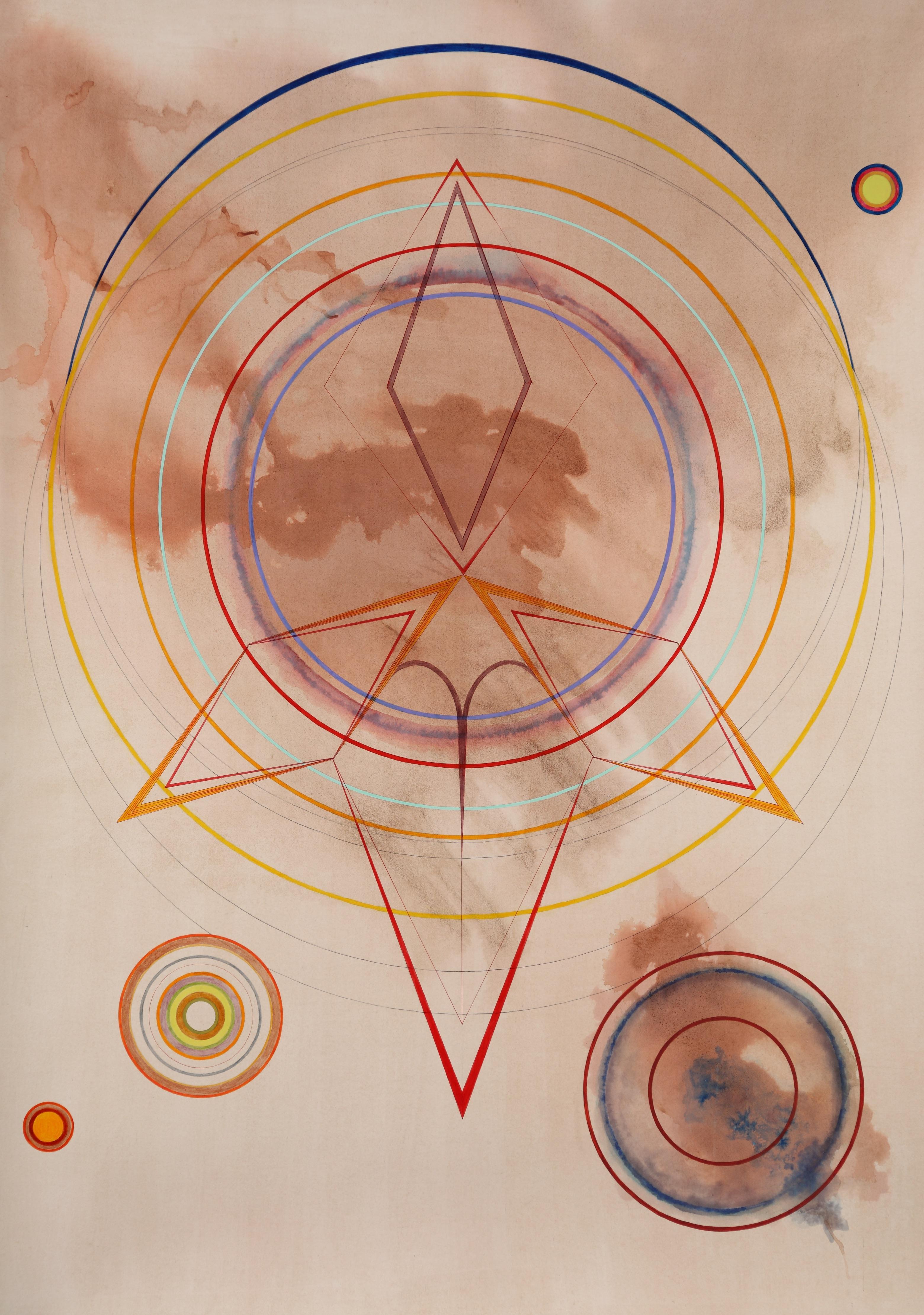 Tayo Heuser, Nomad, 2013, Ink on handburnished paper, Abstraction, Meditative