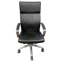 TCC Highback Black Leather Office Chari