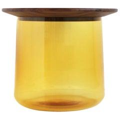 Tea Amber or Walnut Side Table