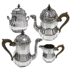 Tea and Coffee Set in Sterling Silver by Falkenberg, 1894-1928