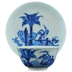 Tea Bowl and Saucer, Stork Pattern, Bow Porcelain Factory, circa 1750