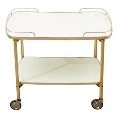 Tea Cart / Bar Cart Crema, 1950s