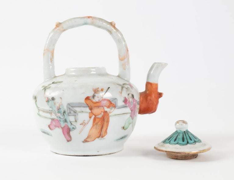 Porcelain Tea, China, Antiques, Asian Art, 19th Century For Sale