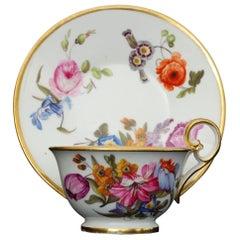 Tea Cup and Saucer Nantgarw Porcelain, circa 1815