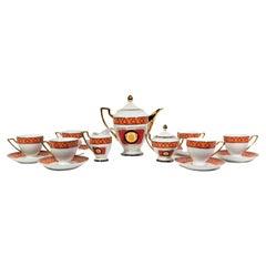 Tea Set by Imperial Greek Key Design Mid Century 15 Piece