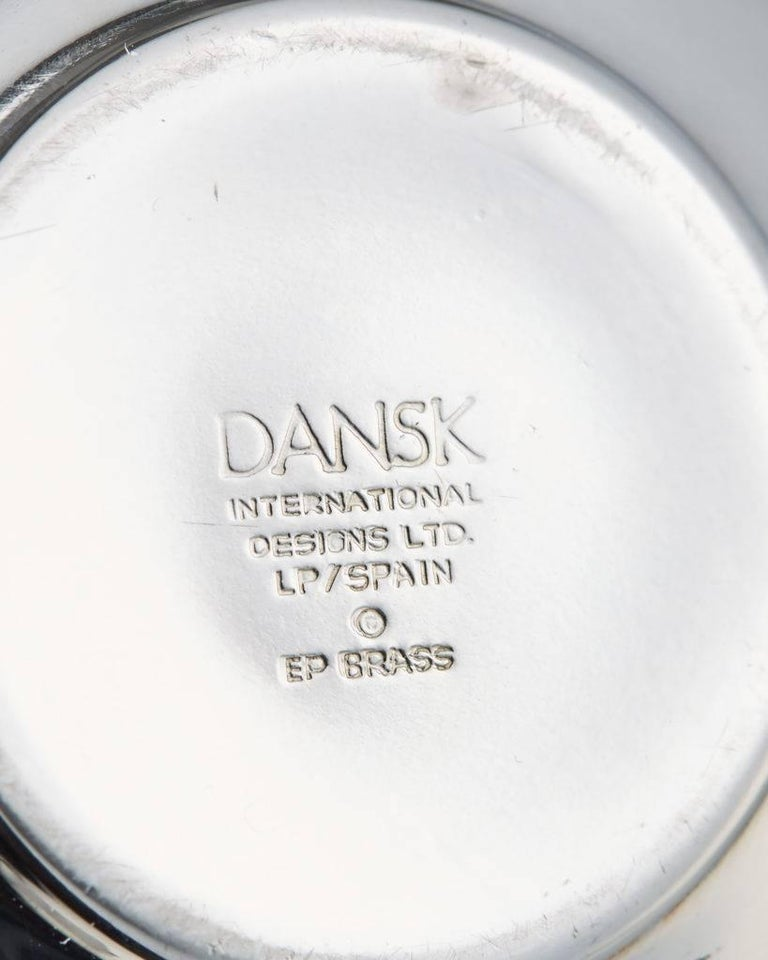 Silvered Tea Set Designed by Vivanna Torun Bülow-Hübe for Dansk International Designs