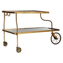 Tea Trolley Designed by Josef Frank for Svenskt Tenn, Sweden, 1940s