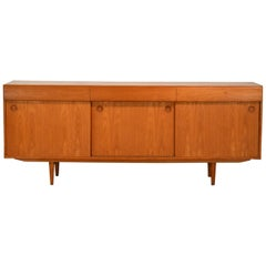 Danish Teak 3 Drawer Credenza Sideboard with Bar Storage