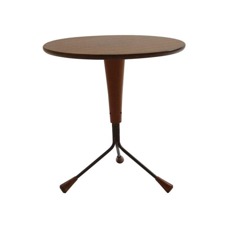 Teak 3 Legged Table by Albert Larsson Alberts Tibro Sweden