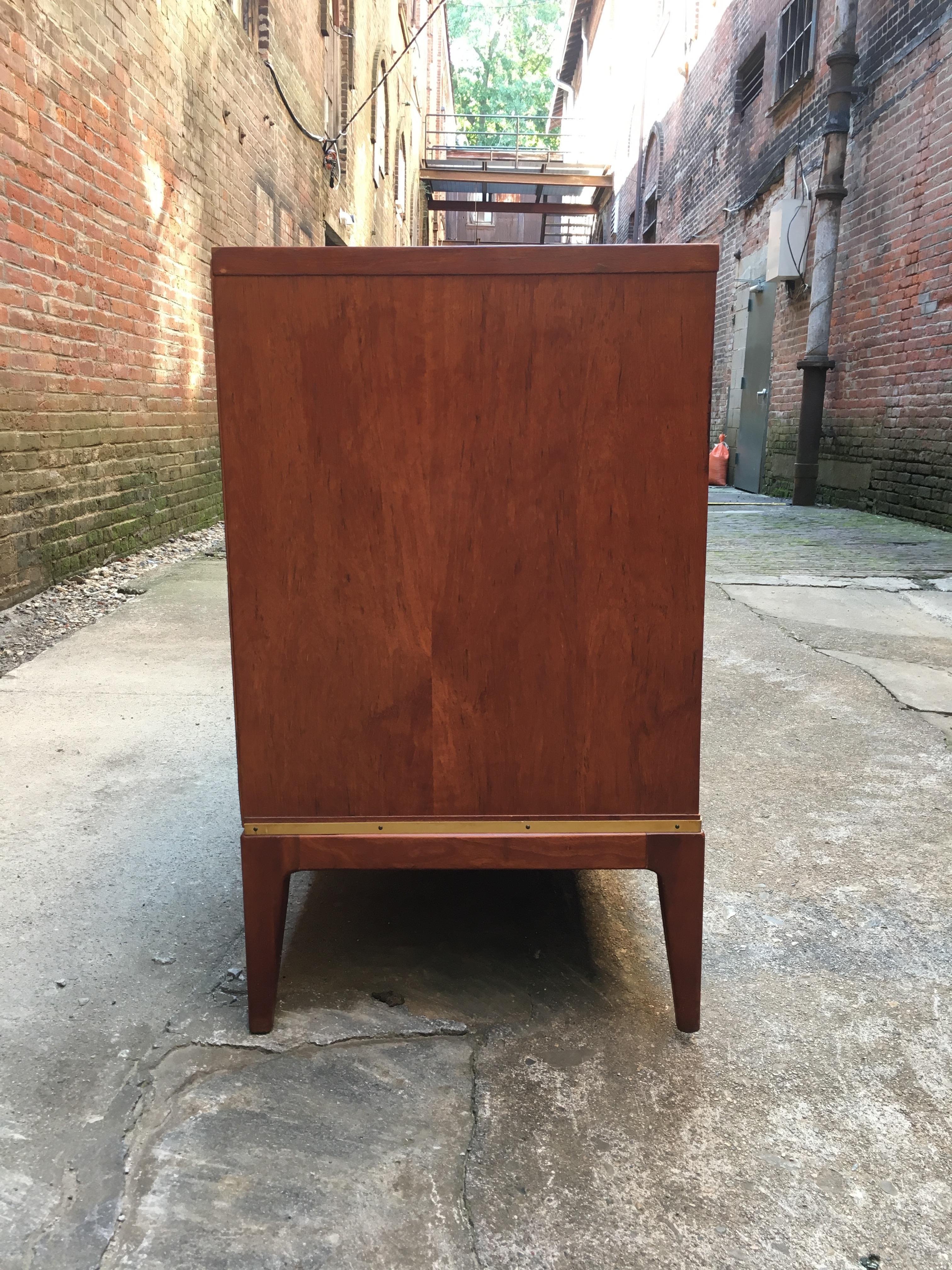 Teak And Brass John Stuart Dresser For Sale At 1stdibs