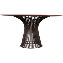 Teak and Bronze Dining Table by Warren Platner for Knoll