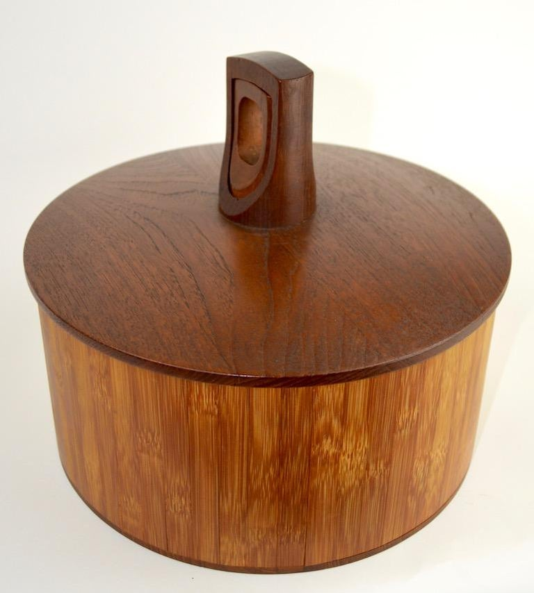 Teak and Cane Ice Bucket by Quistgaard for Dansk For Sale 3