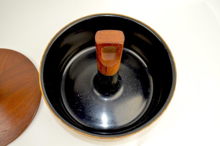 20th Century Teak and Cane Ice Bucket by Quistgaard for Dansk For Sale