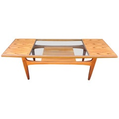 Teak and Glass Coffee Table by Victor Wilkins for G-Plan, 1960s