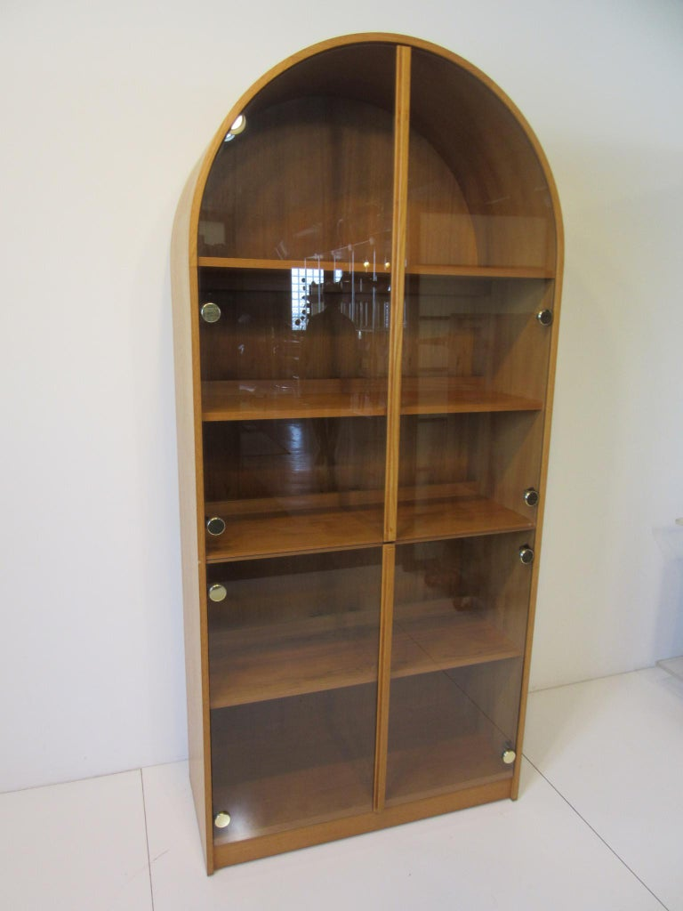 Teak and Glass Danish Styled Bookcase For Sale 3