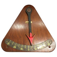 Teak and Iron Ship's Nautical Clinometer, Midcentury, French