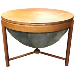 Teak and Leather Sewing Table, Rolf Rastad and Adolf Relling for Rasmus Solberg