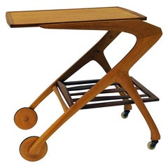 Teak and Oak Trolley by Arne Fregnell for Nc Möbler, 1959, Sweden