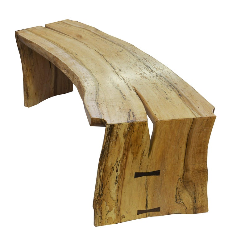 Hand-Crafted Teak and Steel Desk or Table by American Studio Craft Artist, David N. Ebner For Sale
