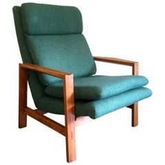 Teak Armchair Attributed to Michel Mortier, France, 1960s