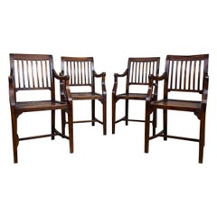 Teak Armchair Set from the Turn of the 19th and 20th Centuries