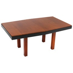 Teak Art Deco Haagse School Extendable Table by Toko v/d Pol Semarang, 1920s