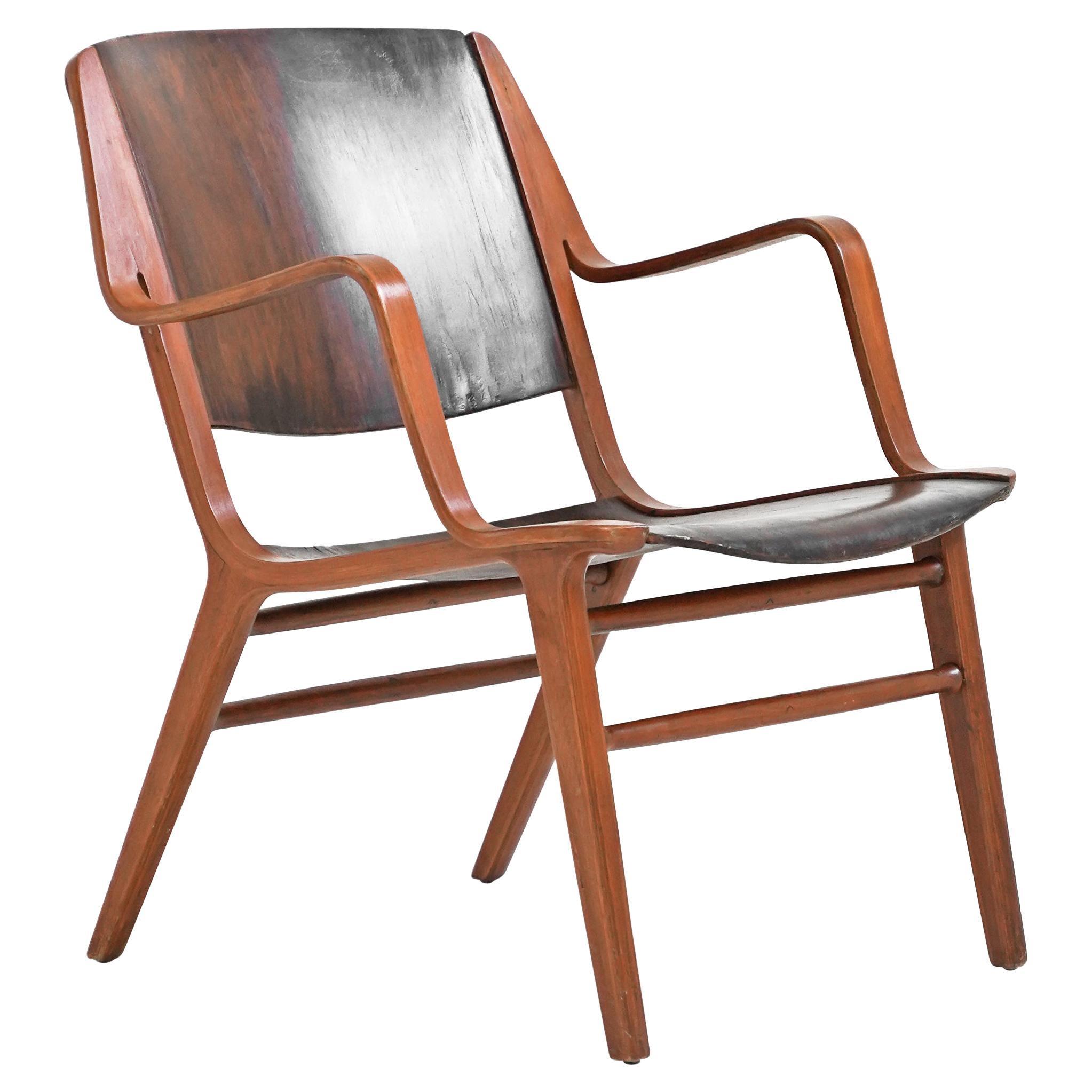 Teak AX Easy Chair by Peter Hvidt and Orla Mølgaard-Nielsen for Fritz Hansen