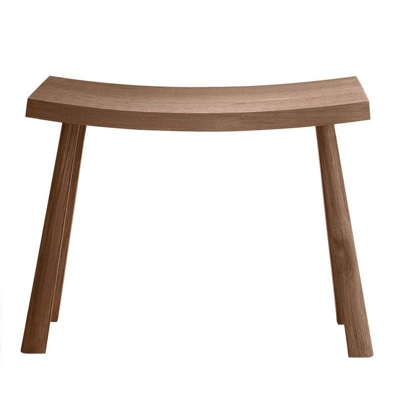 Italian Teak Bench by Ce Studio For Sale
