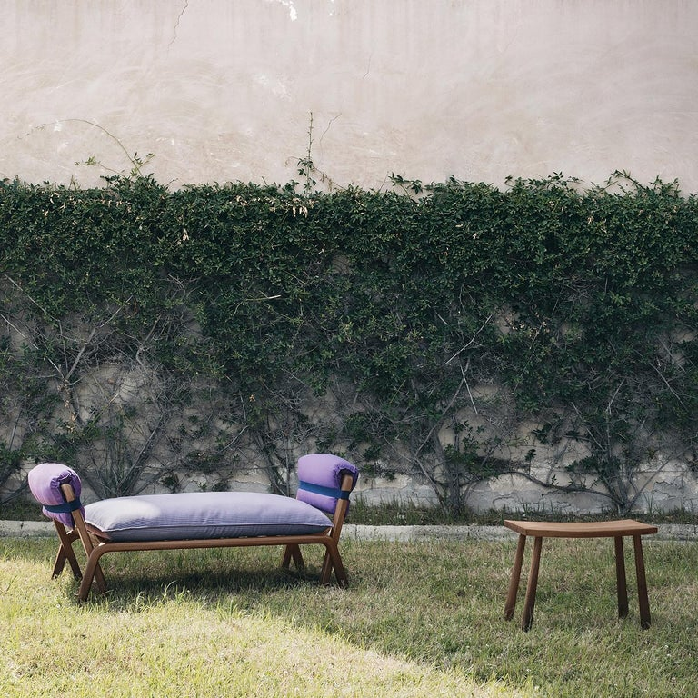 Teak Bench by Ce Studio In New Condition For Sale In Milan, IT