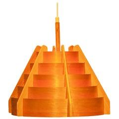 Teak Bentwood Pendant by Hans-Agne Jakobsson for Ellysett, 1960s