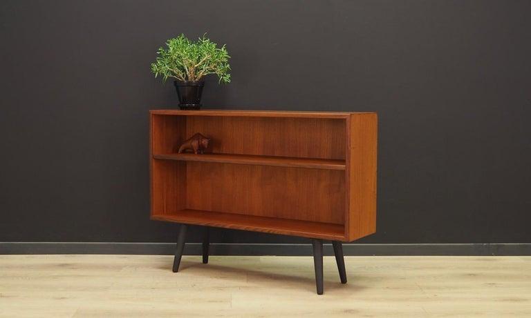 Veneer Teak Bookcase Vintage Danish Design For Sale