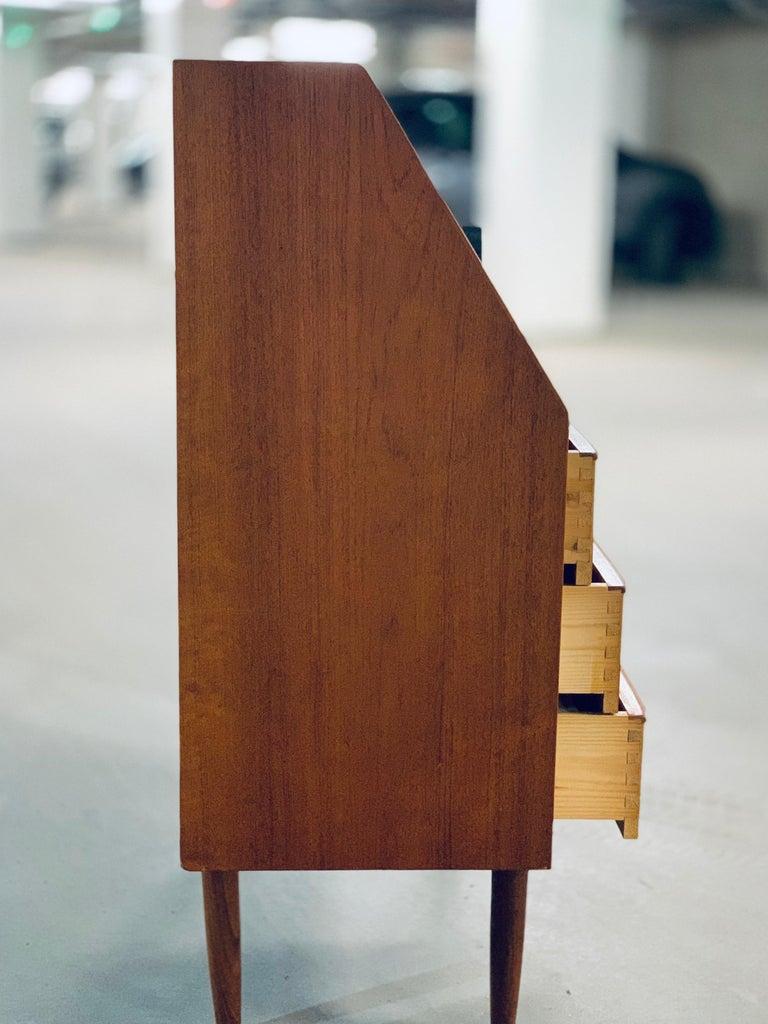 Teak Bureau/Secretary, Denmark, 1960s For Sale 1