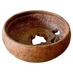 Teak Burl Wood Bowl from Java, Indonesia, Late 20th Century