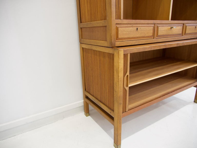 Teak Cabinet by Bodafors with Tambour Doors For Sale 3
