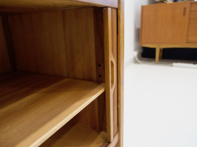 Teak Cabinet by Bodafors with Tambour Doors For Sale 5