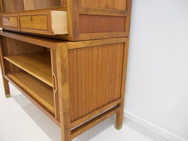 Teak Cabinet by Bodafors with Tambour Doors For Sale 1