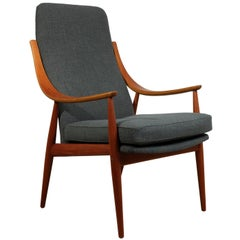 Teak Chair Model 148 by Peter Hvidt Fo France and SonTeak Chair Model 148