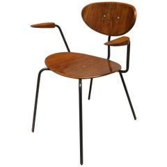 Teak Chair with Armrests from Germany, 1960s