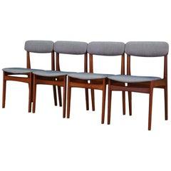 Teak Chairs Danish Design Midcentury, 1960-1970