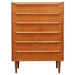 Teak Chest of Drawers 1960s Vintage Danish Design