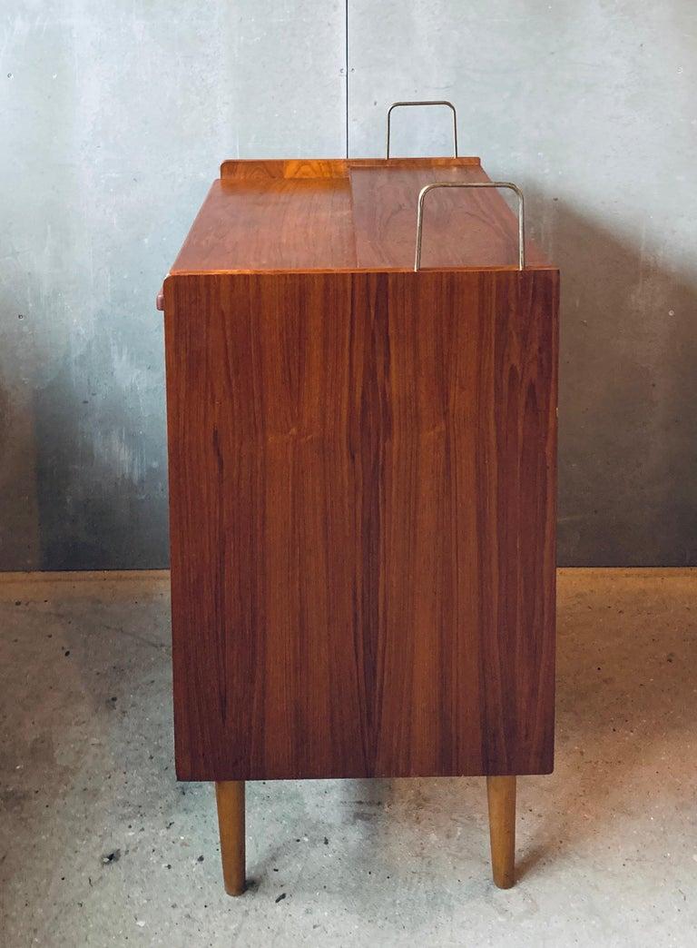 Teak Chest of Drawers / Bureau / Secretary, Denmark, 1960s For Sale 4