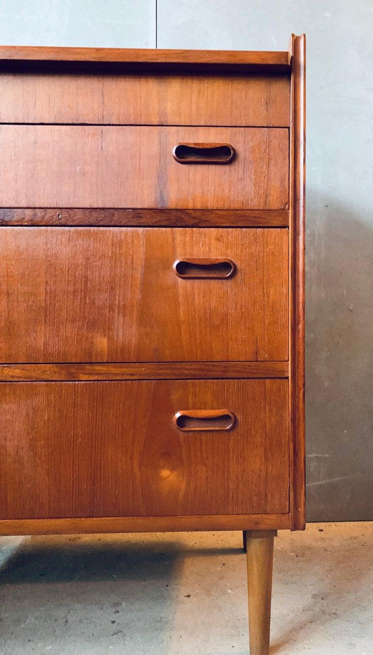 Teak Chest of Drawers / Bureau / Secretary, Denmark, 1960s For Sale 8