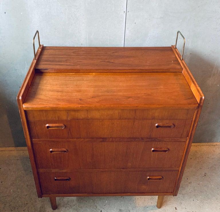 Teak Chest of Drawers / Bureau / Secretary, Denmark, 1960s For Sale 10