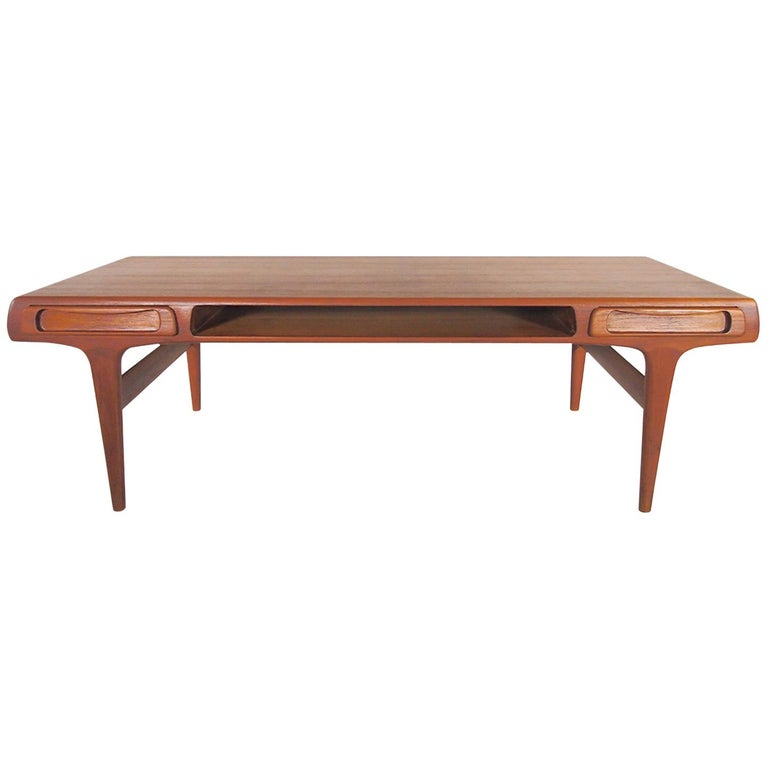Teak Coffee Table Attributed to Johannes Andersen For Sale