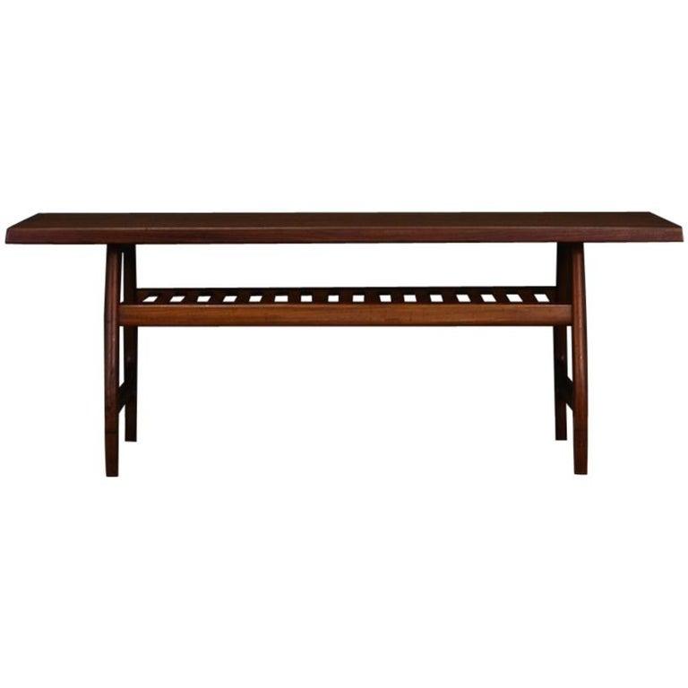 Teak Coffee Table Danish Design Classic Retro, 1960-1970