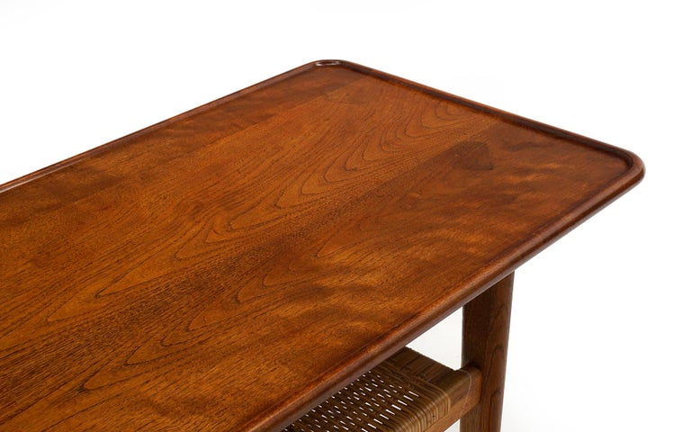 Teak Coffee Table Model AT-10 by Hans Wegner for Andreas Tuck, Denmark, Original In Good Condition For Sale In Kansas City, MO