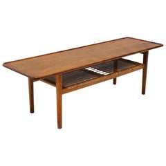 Teak Coffee Table Model AT-10 by Hans Wegner for Andreas Tuck, Denmark, Original