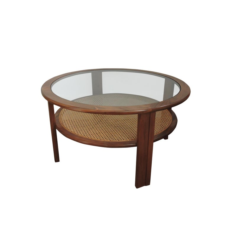 Teak Coffee Table with Cane Shelf by G-Plan, 1970s For ...