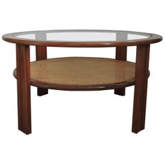 Teak Coffee Table with Cane Shelf by G-Plan, 1970s